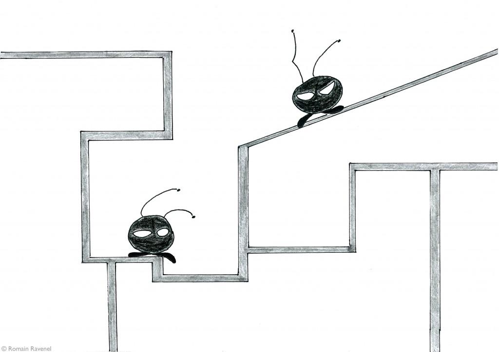 Temps sur des tuyaux, les écarts, illustration, Flea & Chip, James & Cie, James & Cie - Les écarts,