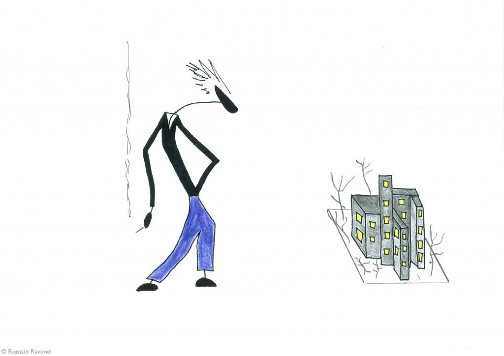 De bas en haut des villes, les écarts, James, illustration, Romain Ravenel, James & Cie, James & Cie - Les écarts,