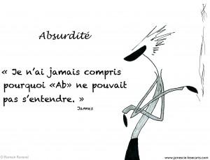 James, publication, James & CIe, James & Cie - Les écarts, phrase illustrée,