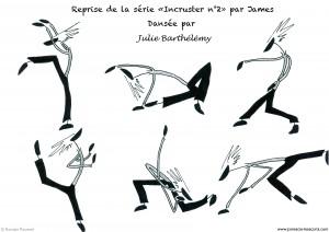 Reprise chorégraphique, André Nitschke, Romain Ravenel, Julie Barthélémy, James & Cie, James & Cie - Les écarts,