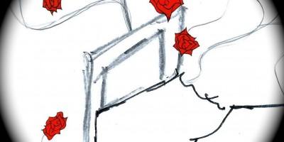 Mon lit ma mémoire, Saranonyme, les écarts, les écarts de saranonyme, Sara Avlis, Les encres anonymes, james et cie, james et compagnie, james & cie, james et cie les écarts, james et compagnie les écarts, james & cie les écarts, poésies, poésies amour, amour, désir, lit, texte poétique, illustration, poésie visuelle, récit, récit poétique, personnage, théâtre virtuel,