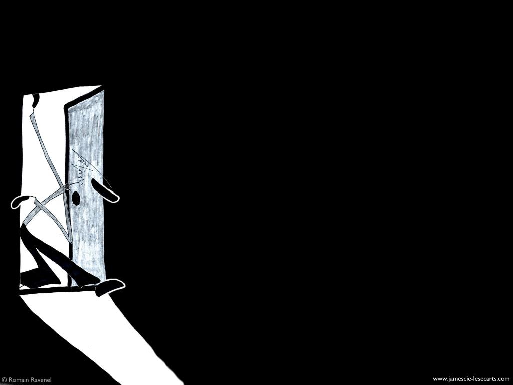 James, les écarts, les écarts de james, james et cie, james et compagnie, james & cie, james et cie les écarts, james et compagnie les écarts, james & compagnie les écarts, poésies, texte poétique, récit, récit poétique, personnage, illustration, dessin, théâtre virtuel, porte, Romain Ravenel, poésie visuelle, personnage dessiné,