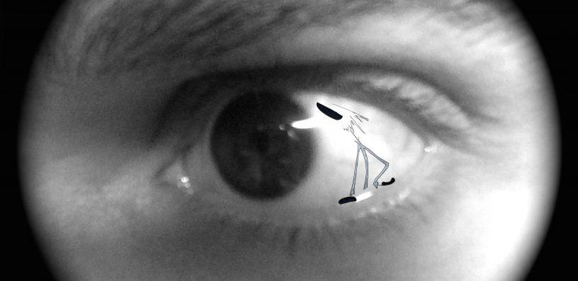 """""""Appar-Être"""" : double regard, James, James & cie, james et cie, james et compagnie, james & cie les écarts, james et cie les écarts, james et compagnie les écarts, Appar-être, Romain Ravenel, illustration, dessin, poésie, graphisme, personnage, regard, oeil, création, art visuel, émotion, récit, photo, photographie, incruster,"""