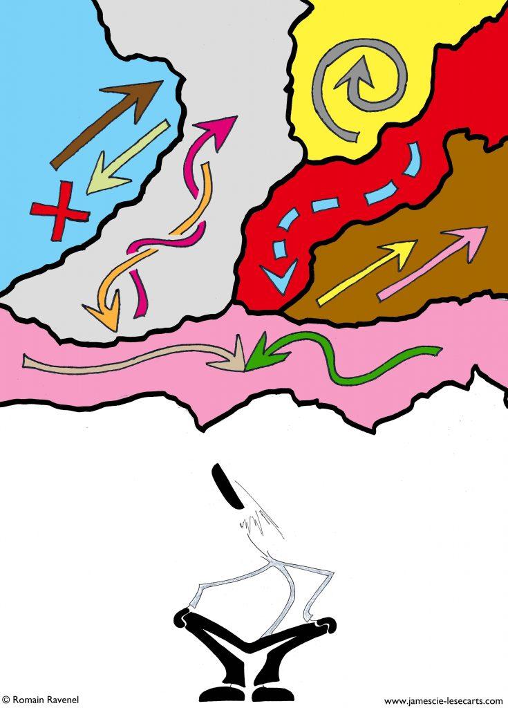 Un ou des sens, James, les écarts, les écarts de James, james et cie, james & cie, james et compagnie, james et cie les écarts, james & cie les écarts, james et compagnie les écarts, Romain Ravenel, dessin, écriture, poésie, illustration, personnage, personnage dessiné, récit,