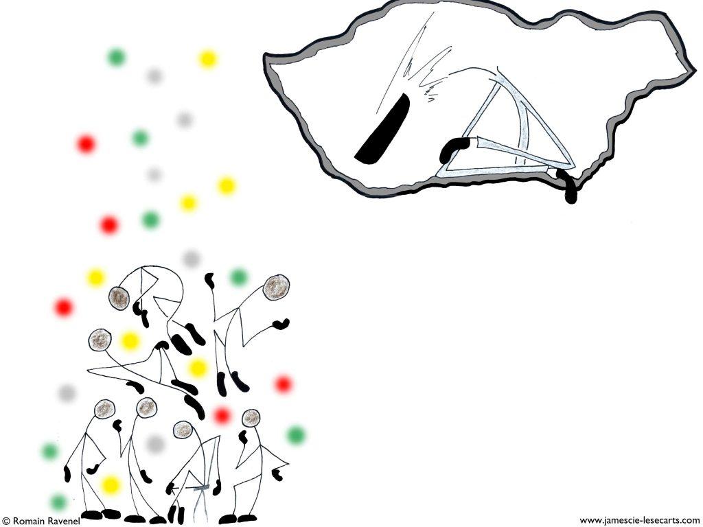 La palette du regard, James, les écarts, les écarts de james, james et cie, james & cie, james et compagnie, james et cie les écarts, james & cie les écarts, james et compagnie les écarts, Romain Ravenel, illustration, personnage, dessin, personnage dessiné, poésie, écriture, récit, texte,