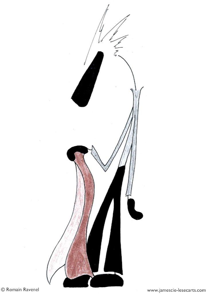 Une nouvelle tenue, James, Romain Ravenel, dessin, illustration, graphisme, personnage, personnage dessiné, james et cie, james et compagnie, james & cie, les écarts, les écarts de james, james et cie les écarts, james et compagnie les écarts, james & cie les écarts, écriture, poésie, récit, aventure,