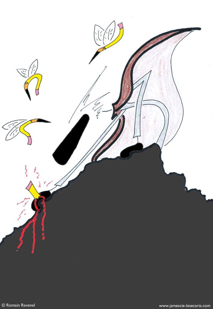 La crainte des crayons, James, les écarts, les écarts de james, dessin, illustration, personnage, personnage dessiné, poésie, écriture, récit, Romain Ravenel, james et cie, james et compagnie, james & cie, james et cie les écarts, james et compagnie les écarts, james & cie les écarts,