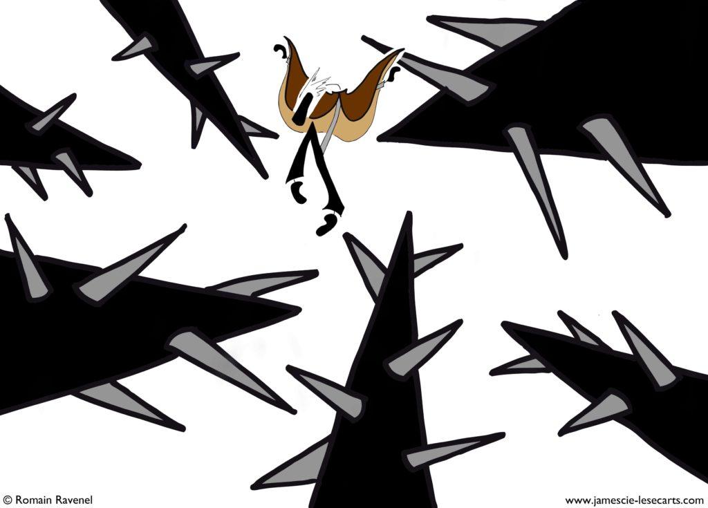 Esquive, James, les écarts, les écarts de james, dessin, illustration, personnage, personnage dessiné, Romain Ravenel, écriture, poésie, récit, james et cie, james & cie, james et compagnie, james et compagnie les écarts, james & cie les écarts, james et cie les écarts,