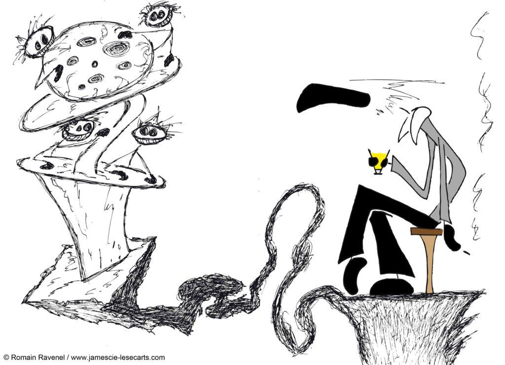 Brouillard et Fantaisie #1, James, les écarts, james et cie, james et compagnie, james & cie, james et compagnie les écarts, james et cie les écarts, james & cie les écarts, dessin, illustration, personnage dessiné, poésie, écriture, récit, auteur, Romain Ravenel,